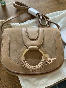 See by Chloe Hana mini bag coconut brown suede bnwt