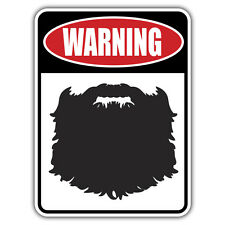 Barba advertencia pegatina por el Sr.. oilcan 100 X 73