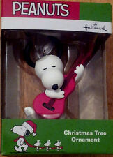 * SNOOPY WITH GUITAR * Peanuts Charlie Brown  Ornament  Hallmark New In Box
