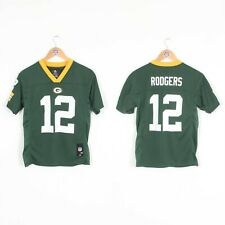 KIDS BOYS YOUTHS GREEN BAY PACKERS NFL JERSEY SHIRT RODGERS #12 10 - 12 YEARS