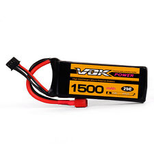 VOK 2S Lipo Battery 7.4V 25C 1500mAh T-Plug Discharger for RC Racing Drone RE