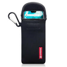 Shocksock Neoprene Pouch Case with Carabiner for Nokia 7.1 - Black