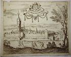 ANCIENNE GRAVURE LA VILLE de CHIEVRES (Belgique), XVIIIème, 18è