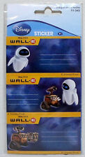 DISNEY PIXAR WALL E & EVE STICKERS LABELS SHEETS MISP UNUSED BRAND NEW RARE