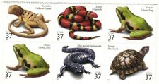 37c Reptiles & Amphibians Stamps, Block of 6, MNH
