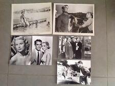 """GRACE KELLY, GARY GRANT, HITCHCOCK """" LA MAIN AU COLLET """"  LOT 6 PHOTOS DE PRESSE"""
