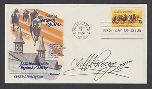 Laffit Pincay, Jr. Jockey, Member of Horseracing HoF, signed 10c Horseracing FDC