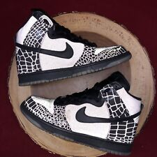 outlet store 87443 4a5b3 2007 Nike Dunk High BLACK SILVER COOL WOLF GREY TORTOISE SHELL 3M  309432-002 9