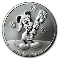 NIUE 2 Dollars Argent 1 Once Noel Disney Mickey 2020