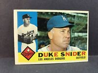 1960 Topps #493 Duke Snider EX LA Dodgers HOF Brooklyn