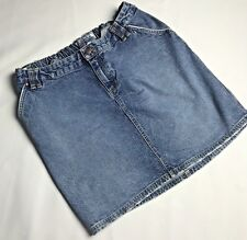 Old Navy Maternity Denim Blue Jean Skirt  Womens Size Large Adjustable Waist