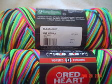 3 Skeins of Red Heart Super Saver Worsted Weight Yarn in Blacklight  #3939