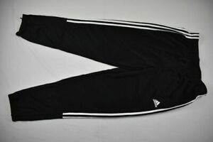 adidas Athletic Pants Men's Black Poly NEW Multiple Sizes