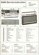 Saba Transeuropa 2000 automatic E  Kofferradio Schaltplan  Original manual