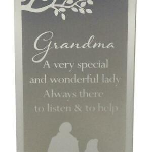 Reflections of the Heart Mirror Glass Standing Plaque Gift – Grandma