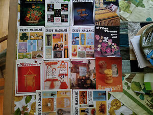 14 BRAND NEW NOS Vintage 70s/80s Macrame Booklets ~ Big Mix of Assorted Projects