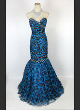 New Jovani Authentic 3476 Animal Print Mermaid Cruise Ball Gown Evening Dress 6