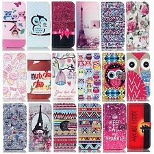 Patterned PU flip case wallet case stand cover protect skin card pockets TPU