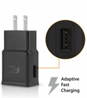 Adaptive Fast Rapid 2A Wall Plug Charger For iPhone Samsung HTC LG Android BLK