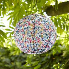 Outdoor LED Solar Floral  Chinese Hanging Garden Lantern Decor 30cm Lights4fun