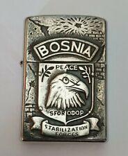 Very Rare Military BOSNIA WAR ZIPPO Lighter circa 1997