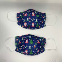 50 PCS Disposable Face Mask Christmas Three Ply Medical Ear-Loop Mouth Cover