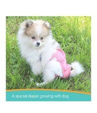 Paw Legend Reusable Female Dog Diapers(3 Pack, Leopard, Small)