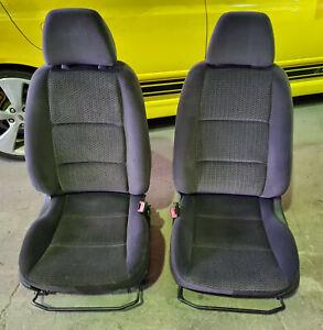 Ford BA BF Falcon XT Sedan Black Cloth LH + RH Front Seats Pair Trim Code B1