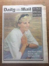 More details for original sept 1997 daily mail newspaper death of princess di lady diana spencer