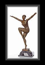 Art Deco Bronze Skulptur Figur Statue D. H. Chiparus