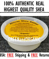 8 oz Ivory Raw African Shea Butter GHANA Natural Organic UNREFINED Pure 1/2 Lb