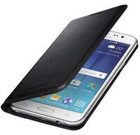 Original Samsung Galaxy J5 J500F Flip Wallet Tasche Schutzhülle Case Schwarz