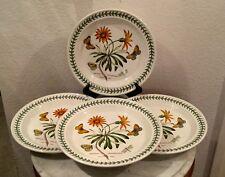 "Vintage Portmeirion ""African Daisy Arctotis Grandiflora"" Set 4 Dinner Plates."