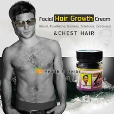 FACIAL HAIR GROWTH & CHEST HAIR CREAM 100% NATURAL PRODUCT (1-2 MONTH SUPPLY)
