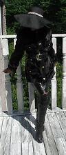 elegant Designer Givenchy vtg black brown Mink Fur coat jacket stroller S-M 2-10