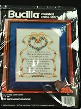 Bucilla Counted Cross Stitch Kit Paul to the Corinthians Bible Verse NEW Sealed