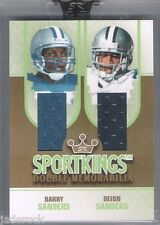 Barry & Deion Sanders 2008 Sportkings Dual Game Used Jersey #8/10 Gold Version