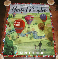 UNITED AIRLINES TRAVEL POSTER TO THE UNITED KINGDOM 2004
