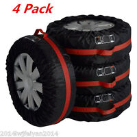 "4xCar Truck Seasonal Spare Tire Protection Cover Tote Carry Storage Bags 16""-22"""