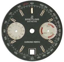 BREITLING ZIFFERBLATT FÜR CHRONO-MATIC REF. 2112 CAL. 11/12 FARBE SCHWARZ/SILBER