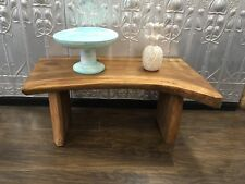 Timber Rustic Slab Bench or Coffee Table
