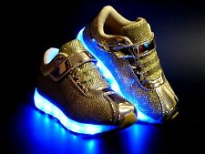 New Baby Toddler Girls And Kids Youth Light Up Shoes Rechargeable USB LED