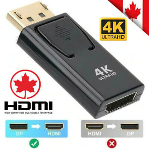 Display Port DP Male To HDMI Female  Adapter Converter For 1080P HDTV PC