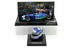 1/43 1/8 Minichamps Spark Kimi Raikkonen  Sauber Petronas C20 2001 + Helmet