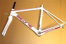 BeOne RAW Road Rennrad-Rahmen Weiß/Rot Fahrradrahmen Frameset