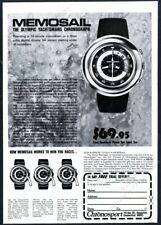 1973 Memosail Swiss Watch YACHT TIMER foto CHRONOSPORT VINTAGE PRINT AD