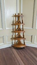 Dollhouse Miniature Etagere Display Shelf Walnut Finish 1:12 Scale Furniture