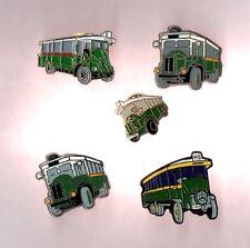 lot de 5 pin's transports / anciens bus RATP