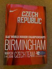 2018 República Checa campeonatos del mundo indoor de Atletismo guía de medios de equipo