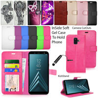 For Samsung Galaxy A6 2018 A600F  Phone Case Wallet Leather Flip Book Cute Cover